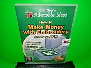 John Deer's Adorable Ideas How To Make Money With Embroidery Dvd Brand New B636