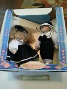 Collectors Choice Porcelain Dolls Limited Edition 2 Doll Set New In Box
