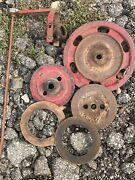 Belt Drive Assembly Pulley Clutch Disc Plates David Bradley Walk Behind Tractor
