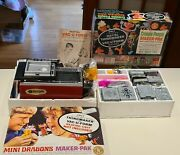 Mattel 1960and039s Thingmaker Creepy Crawlers Minnie Dragons And Vacuform Sets Lot