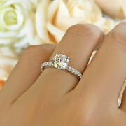 Natural 1.05 Ct Diamond Women Engagement Ring Solid 14k White Gold Size 7 8 9 10