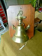 Us Navy Fouled Anchor Wall Plaquewith Bronze Ships Bell..san Francisco