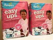 Lot Of 2 Discontinued Hello Kitty Pampers Easy Ups Girls 4t-5t 36 Total