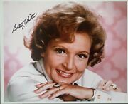 Betty White Autograph 8x10 Colored Signed With Coa Golden Girls Mary Tyler Moore
