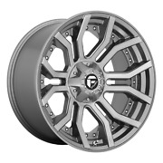 24 Inch 8x180 4 Wheels Rims 24x12 -44mm Brushed Gun Metal Tinted Clear Fuel 1pc