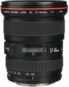Canon Wide-angle Zoom Lens Ef17-40mm F4l Usm Full Size Compatible