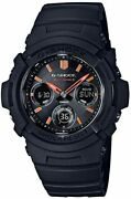 Casio G-shock Fire Package And03918 Radio Solar Awg-m100sf-1a4jr Mens Black