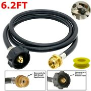 6ft Propane Adapter Hose Lp Tank 1lb To 20lb Converter For Qcc Weber Q Gas Grill
