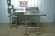 Advance Tabco Pass Through Stainless Right Side Hobart Dish Washer Machine Table