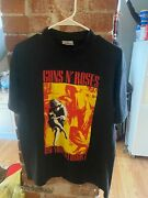 Vintage 90and039s Concert Shirt Rock N Roll Brockum Guns Nandrsquo Roses Rare Flawless