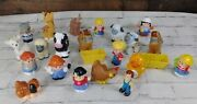 Fisher Price Little People Farm Animals Farmers 23pc. Lot Cows Horse Sheep Dog