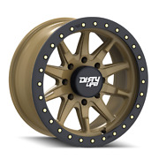 20 Inch 8x165.1 Wheels 4 Rims Satin Gold W/simulated Ring 0mm Dirty Life Dt-2