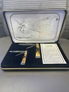 Case Xx 1989 Stag The Guns That Tamed The Wild West Pocket Knife Set 0044 Wow