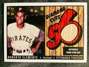 2003 Bowman Heritage Roberto Clemente Diamond Cuts Game Used Bat Red /56 Rare