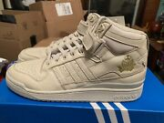 Leaders X Adidas Forum Mid- Clear Brown/gold/solar Red Sz 11