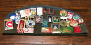 Vintage Russian Soviet Military Pilotka Cap Hat Pins And Patches