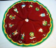 Finished Bucilla Partridge In A Pear Tree 12 Days Of Christmas Tree Skirt 56