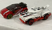 Hot Wheels Log Of 2 - 2018 Hotweiler Dtx25 And 2013 Super Gnat Red Diery Loose