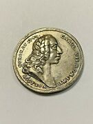 1745 Silver Charles 7th 30 Mm Birth Coronation And Death Medal Rare