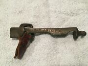 Antique Billiard Pool Ball Cue Repair Tool W/ Leather Tabmarked Pat Apld For