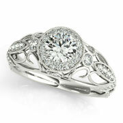 1.00 Ct Real Diamond Women Anniversary Ring Solid 950 Platinum Rings Size 8 9 10