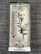Aspects Original Window Mount Outdoor Thermometer Gold Finch Pair By Chalet