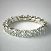 Real 2.00 Carat Diamond Ladies Engagement Band Solid 14k White Gold Size 6 7 8 9