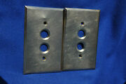 Two- Antique Hart And Hegeman Solid Brass Sgl Gang Push Button Switch Plates