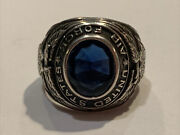Vintage Menand039s Uncas Wwii Usaf Us Air Force Sterling Silver Ring Sz 11