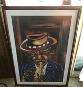 Black Window Robert D. Bassett Signed And Numbered Edition Lithograph Framed 20x30