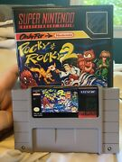 Pocky And Rocky 2 Snes Authentic Cart