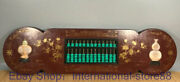 40 Rare Old China Lacquer Ware Wood Shell Turquoise Dynasty Palace Abacus
