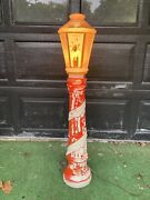 Vintage Empire Christmas Candle Lamp Post Blow Mold 1960's Lot A