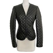 Alexander Mcqueen 2007 Collection Quilted Leather Jacket Size 42 Mspr 4140