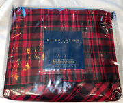 King Duvet Cover Red Black Otter Creek Plaid New Discontinued Rare