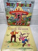 Vtg 1963 Walt Disneyand039s Uncle Remus Zip-a-dee-doo-dah And 1964 Mary Poppins Record