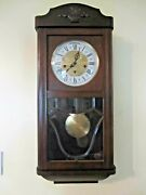 Vintage Jauch Ave Maria And Westminster Chime Wall Clock Germany 31 Day