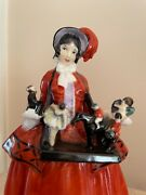 """Ultra Rare Royal Doulton """"the Sketch Girl"""" Figurine  Mint Issued 1923"""