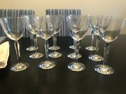 Baccarat Clara Crystal Wine Glasses Set Of 12 Almost Brand New