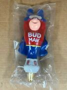 Budweiser Bud Man Beer Tap Handle Brand New In Box 1992 Super Rare Nos