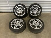 03-09 Mercedes W209 Clk350 Clk500 17 Amg Wheels And Tires Set Staggered Oem