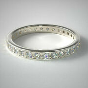 Real 1.55 Ct Round Diamond Ladies Engagement Band Solid 14k White Gold Size 6 7