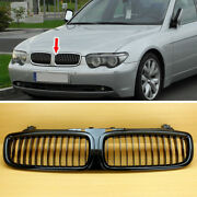Fit For Bmw E65 E66 Pre-facelift 02-05 745i 745li Painted Black Front Grille Abs