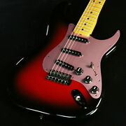 Fender Ken Stratocaster Galaxy Red Used 2017 Maple Fingerboard W/soft Case