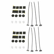 2 Set Replacement Electric Cooling Fan Mount Ties Straps Brackets Springs