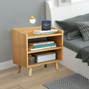 Wooden Bedsid Cabinet Nordic Bedroom Storage Table Chest Of Drawers Lapto Us