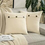 Pack Of 2 Chenille Rustic Farmhouse Decorative Throw Pillow Covers Cushion New