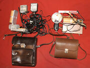 Lot 2 Vintage Soviet Russian Flashlights For Camera Luch-70 And Chayka
