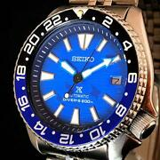 Seiko 7002-700j 1990 Automatic Mystery Of The Sea Divers Manta Ray Blue Vintage