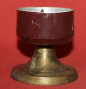 Antique Handcrafted Brass Tin Candle Holder Candlestick